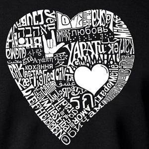 NEW Graphic love symbol LA Pop Art/word art tshirt
